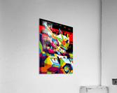Wings Gundam Zero Pop Art  Acrylic Print