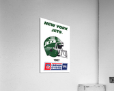 1987 New York Jets Helmet Art  Acrylic Print