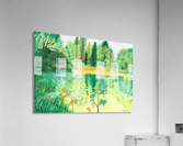 Wallington Hall pond  Acrylic Print