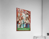 1982 oklahoma sooners retro college football poster  Acrylic Print
