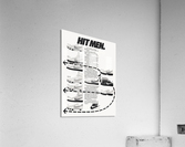 Hit Men Nike Shoes Ad Poster Reproduction 1982  Acrylic Print