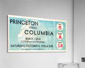 1934 Princeton vs. Columbia Lions Football Ticket Wall Art  Acrylic Print