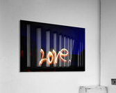 Love lights sculpture   Acrylic Print