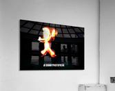 Fire Stickman  Acrylic Print
