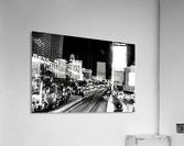 Las Vegas Night Shot B&W  Acrylic Print