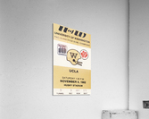 1982 uw huskies washington ucla football ticket stub canvas husky stadium seattle ticket  Acrylic Print