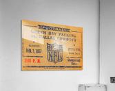 1967 green bay packers dallas cowboys nfl championship game  Acrylic Print