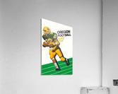 1987 oregon ducks retro football poster  Acrylic Print