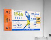 1946 michigan army ann arbor college football ticket art  Acrylic Print