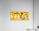 1967 Chicago Bulls 1st Season Ticket Art  Acrylic Print