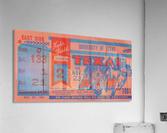 1961 texas am aggies football ticket wall art  Acrylic Print