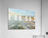 Oak Island Pier View2   Acrylic Print