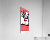 1982 chicago bulls nba playoffs phantom ticket  Acrylic Print