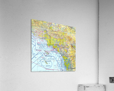 LA & San Diego Aeronautical Wall Art  Acrylic Print