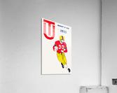 1955 university of tulsa football poster  Acrylic Print