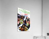 1987 seattle supersonics nba all star game poster  Acrylic Print