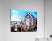 Yacht Basin boathouse  Acrylic Print