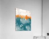 Blue Gray Orange Abstract DAP 20014  Acrylic Print