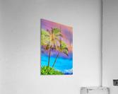 Palms Against The Sky  Acrylic Print