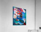 Behind The Blue Fence  Acrylic Print