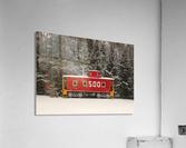 Soo Caboose in Fresh Snow  Acrylic Print