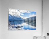 Snowy Day on the Lake  Acrylic Print