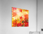 Welcome Fall Red Green Yellow Birch Oak Maple Watercolor Leaves  Acrylic Print