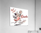 1960 Baltimore Orioles Art  Acrylic Print