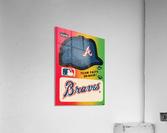 1983 Atlanta Braves Fleer Decal  Acrylic Print