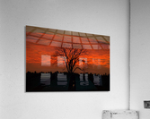 Wisconsin November Sunset Wood County  Acrylic Print