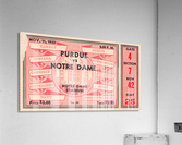 1933 Notre Dame vs. Purdue  Acrylic Print