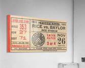 1955 Rice vs. Baylor  Acrylic Print