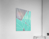 Gray Teal Triangles Geometric Art GAT101-2  Acrylic Print