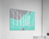 Gray Teal Triangles Geometric Art GAT101-3  Acrylic Print