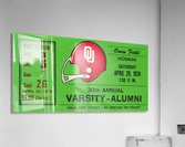 1978 Oklahoma Sooners Varsity Alumni Game  Acrylic Print