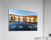 Harpersfield covered bridge and reflection Ashtabula County Ohio  Acrylic Print