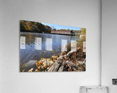 Harpersfield Ohio covered bridge in autumn from east side  Acrylic Print