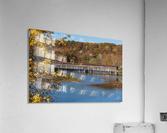 Harpersfield Ohio covered bridge in autumn  Acrylic Print