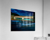 Night image of Harpersfield Covered Bridge over Grand River Ohio  Acrylic Print