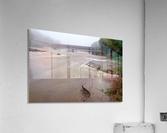 Grand River rapids at Harpersfield Covered Bridge Ohio  Acrylic Print