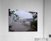 Harpersfield Ohio covered bridge in fog  Acrylic Print