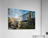 Mechanicsville covered bridge over Grand River Ohio  Acrylic Print