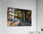 Portal of Mechanicsville covered bridge Ashtabula County Ohio  Acrylic Print