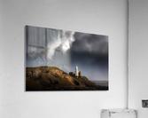 Mumbles lighthouse in the rain  Acrylic Print