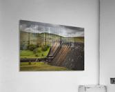 The Claerwen reservoir dam in Powys  Acrylic Print