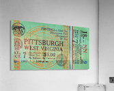 1967 West Virginia vs. Pitt  Acrylic Print