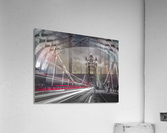 Tower bridge with strip lights, London, UK  Acrylic Print