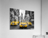 Taxi on broadway, New York  Acrylic Print
