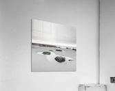 Rock pools on a sandy beach  Acrylic Print