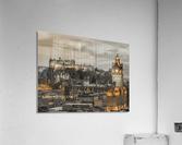 Edinburgh Castle and The Balmoral Hotel, Scotland  Acrylic Print